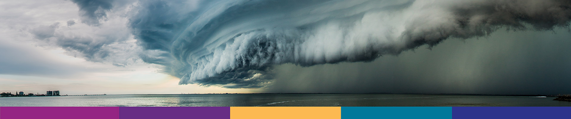 Large storm cell over the ocean