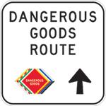 Dangerous goods route sign