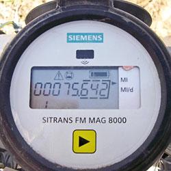 Dial of the Siemens MAG 8000 Water Meter