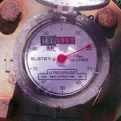 Dial of the Elster R2000 Water Meter 80 - 125mm