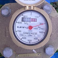Dial of the Elster R2000 Water Meter 150 - 300mm
