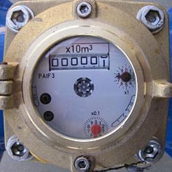 Dial of the Elster R1000 Water Meter 150